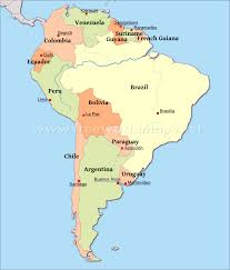south america map bolivia south america political map