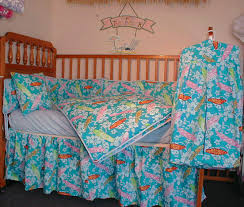 Surfer Crib Bedding Hawaiian Surf Baby Bedding 6 Sets