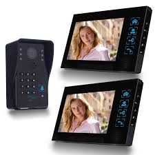 Front Door Monitor Camera by Simbr Wired Video Doorbell With 2 Monitors Review And Set Up