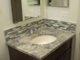 Brilliant Bathroom Vanity Backsplash Ideas Trends Small Tile N - Bathroom vanity backsplash ideas