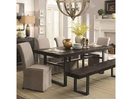 Coaster Dining Room Sets Coaster Keller Contemporary 6 Piece Dining Set With Bench Del