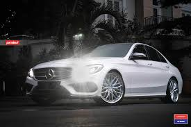 mercedes c class looking glamorous with custom chrome parts