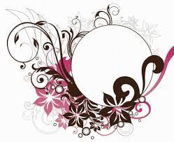 wallpaper bunga lingkaran lingkaran bingkai dengan bunga dekorasi vektor grafis vector floral