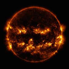 the sun dressed as a jack o u0027 lantern for halloween nerdist