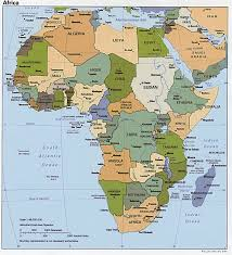 Africa On A Map by Maps Africa