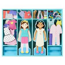 doug melissa u0026 doug magnetic dress up dolls set carters com