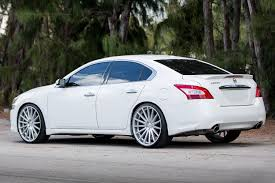 silver nissan car vossen vfs2 wheels silver with polished face rims