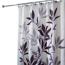 Gray And Purple Bathroom by Interdesign Shower Curtains Shower Accessories The Home Depot