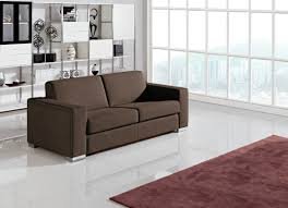 Sofa Come Bed Furniture Divani Casa Mineral Modern Brown Fabric Sofa Bed