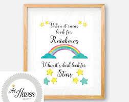 rainbow wall art etsy