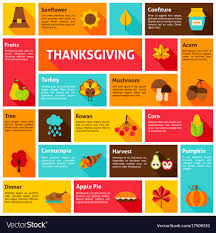 thanksgiving infographic concept royalty free vector image