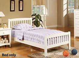 Twin Sized Bed Amazon Com Twin Size Bed Cottage Style In White Finish Headboards