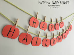 happy halloween banner featuring cricut a sweet berry u0027s blog
