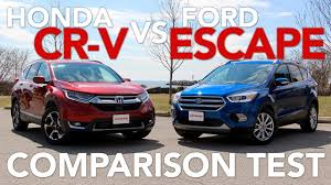Ford Escape Suv - 2017 ford escape vs 2017 honda cr v compact suv comparison youtube