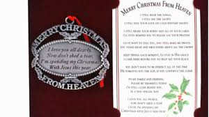 merry christmas from heaven merry christmas from heaven ornament and bookmark