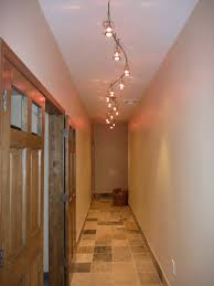 Hallway Ceiling Light Fixtures Artwork Pictures Hang On White Wall Painted Combined With