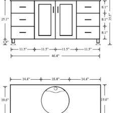 what is the standard height of a bathroom vanity vessel sink