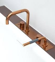 Copper Bathroom Fixtures White Powder Room With Gold Fixtures Copper Copper Bathroom Fixtures