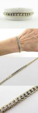 silver chain bracelet ebay images Diamond tennis bracelet ebay unique gold sterling silver fine jpg