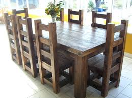 Large Wooden Kitchen Table by Real Wood Dining Table U2013 Rhawker Design