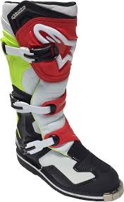 motocross boots alpinestars alpinestars tech 1 motocross boots motorcycle black white red yellow