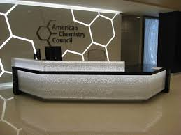 Front Desk Designs For Office Awesome Modern Corian Office Table Design Contemporary