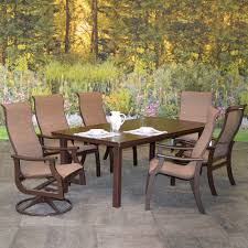 Sling Patio Dining Set Outdoor Patio Furniture St Catherine Aluminum Sling Patio