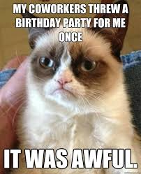 Birthday Party Memes - my coworkers threw a birthday cat meme cat planet cat planet