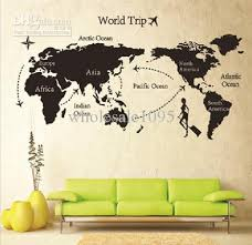 living room wall stickers new arrive 80 140 travel world map wall sticker living room wall
