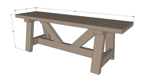 Simple Outdoor Bench Seat Plans by Ana White Providence Bench Diy Projects