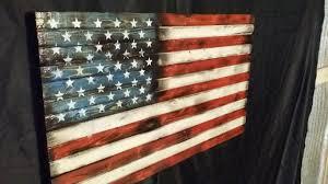 Vintage Flag Art Scorched U S Flag