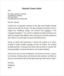cover letter examples teacher advertising cover letter example