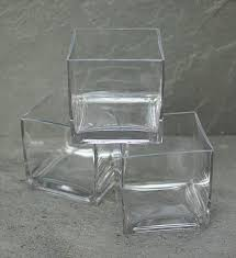 Square Glass Vase Square Glass Vase Clear Cube 5 X 5 Inches 12 Pack