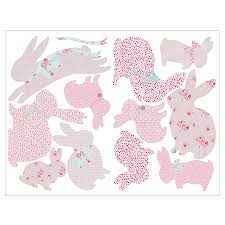 Bedroom Wall Stickers Uk Children U0027s Rabbit Wall Stickers By Koko Kids Notonthehighstreet Com