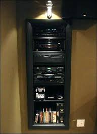 Audio Cabinets With Glass Doors Creative Stereo Component Cabinet Small Audio Component Rack Wall