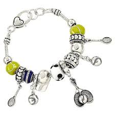 charm bracelet from pandora images Pandora inspired tennis sport theme charm bracelet ball rocket hat jpg