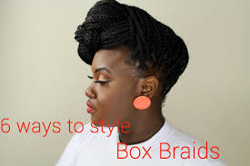 hairstyles for block braids hair 6 ways to style box braids youtube