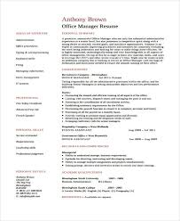10 office manager resumes free sample example format download
