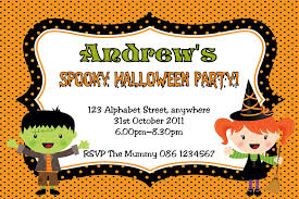 halloween invitation cards for kids u2013 fun for halloween