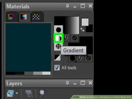 how to create a gradient in paint shop pro 4 steps