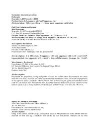 sample resume for hotel kitchen staff best resumes curiculum