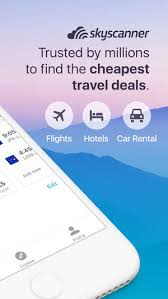 sky scanner skyscanner flights hotels cars on the app store