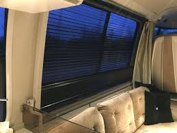 upgrades rv gmc motorhome valences and wooden blinds on driver