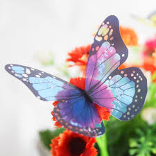 crystal 18pcs 3d butterflies diy home decor wall stickers for kids