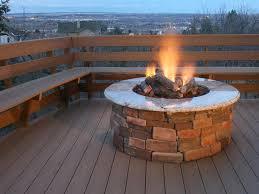 Round Brick Fire Pit Design - outdoor propane fire pit round designs simple outdoor propane