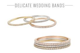 delicate wedding bands unique engagement and wedding rings by catbird bridal musings