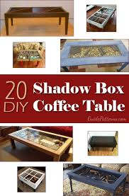 Plans For Building A Wood Coffee Table by Best 25 Shadow Box Coffee Table Ideas On Pinterest Shadow Box
