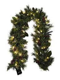 pre lit battery operated garland wreath walmart with timer outdoor
