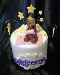 Baby Decorations Fondant Baby Shower Cake Topper Teddy Bear Goodnight Moon And