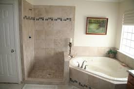 tiled shower stalls create distinctive and stylish shower zone